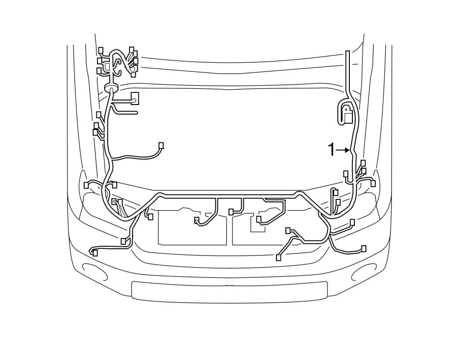 Toyota Tundra Engine Wiring Harness  4 0l  W  Park Assist