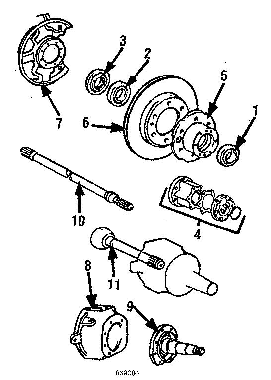 1994 Toyota PickUp Body and brake set. Drive unit. Hub ...
