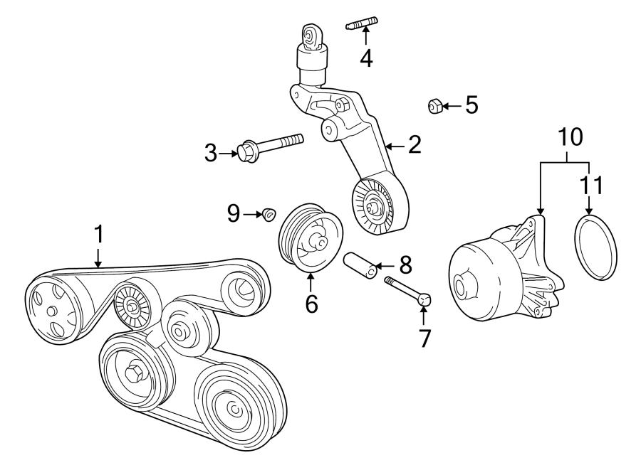 2000 Toyota Mr2 Spyder Accessory Drive Belt Tensioner Assembly