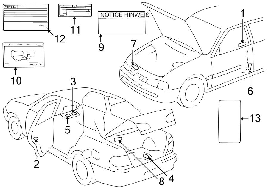 Toyota Corolla Label  Spare  Tire