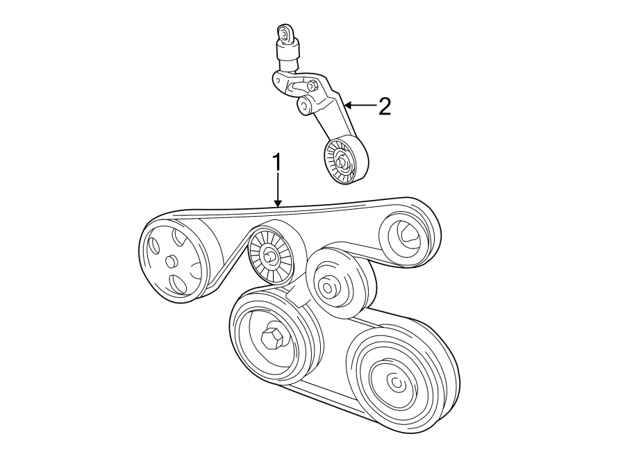 Toyota Corolla Accessory Drive Belt Tensioner Assembly