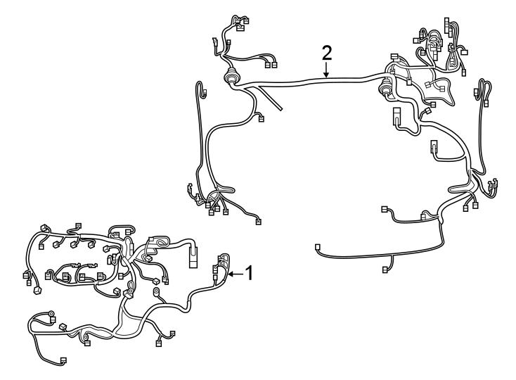 Toyota Corolla Engine Wiring Harness. 1.8 liter, w/Hybrid ...