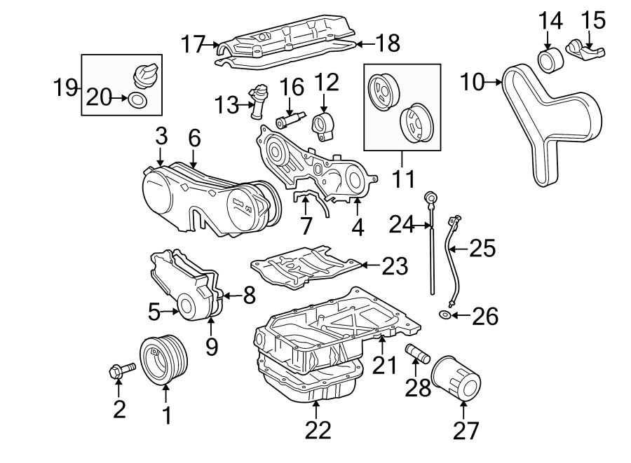Toyota Highlander Engine Timing Cover  Front  Lower