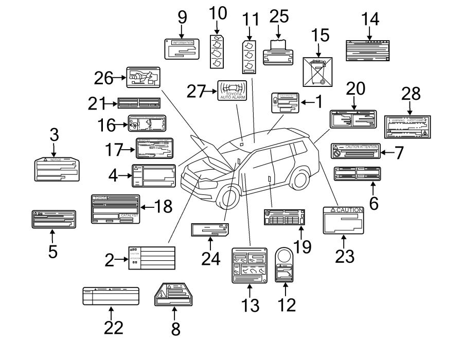 Toyota Highlander Engine Decal  Engine  Vacuum  Decal