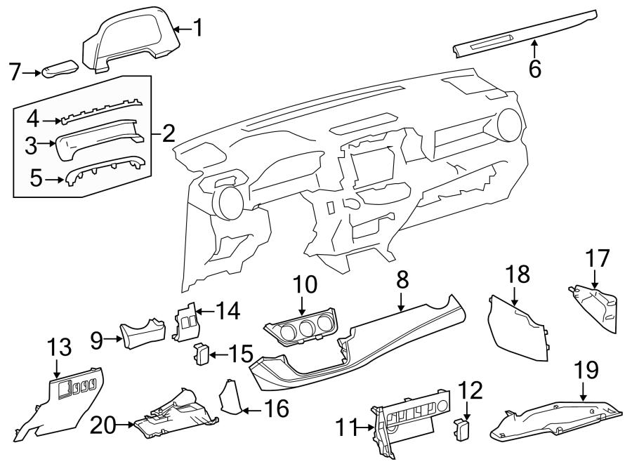Toyota RAV4 Fuse Box Cover - 5554542080C0 | Toyota, Fort ...