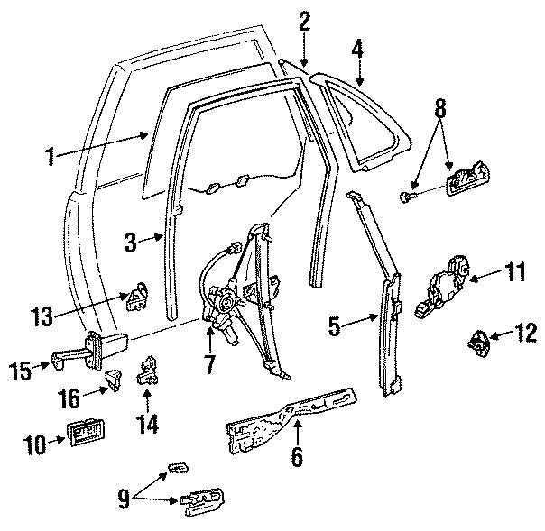 Toyota Camry Window Regulator  Make  Power