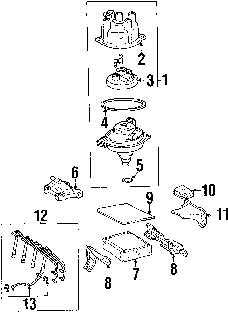 Toyota Celica Spark Plug Wire Set  Liter  California