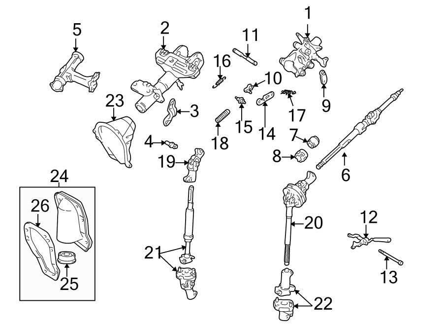 Toyota Tacoma Pawl  Tilt  Assembly  Stee  Lock Arm  Right  Steering  Column