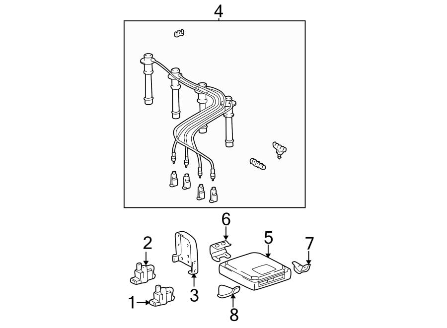 Toyota Tacoma Spark Plug Wire Set  Liter  Cylinder