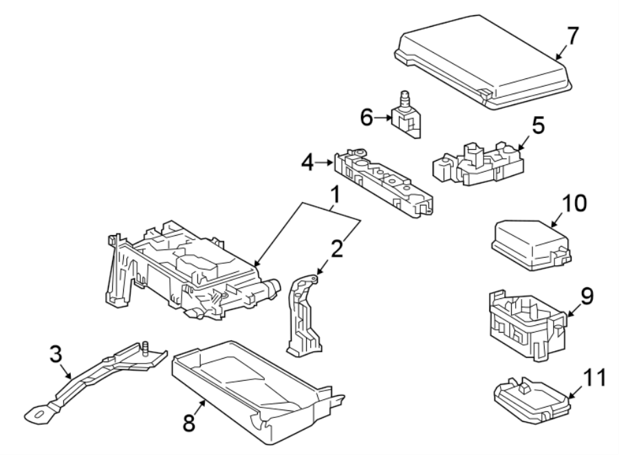 Toyota Tacoma Fuse Box  Engine Compartment   1  Telematics