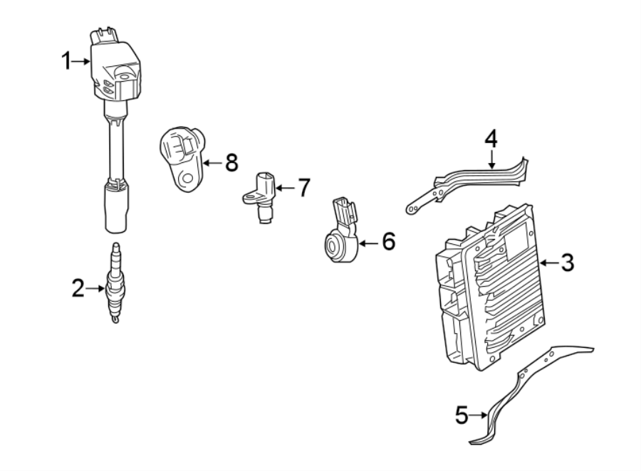 Toyota Camry Engine Crankshaft Position Sensor  Liter