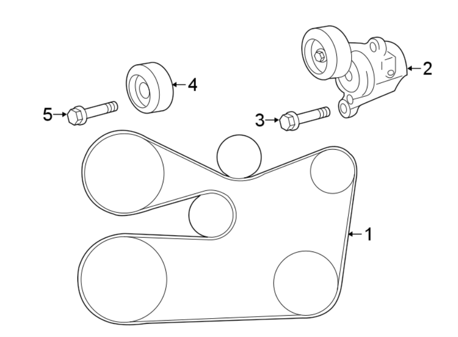 Toyota Sienna Accessory Drive Belt Tensioner Assembly