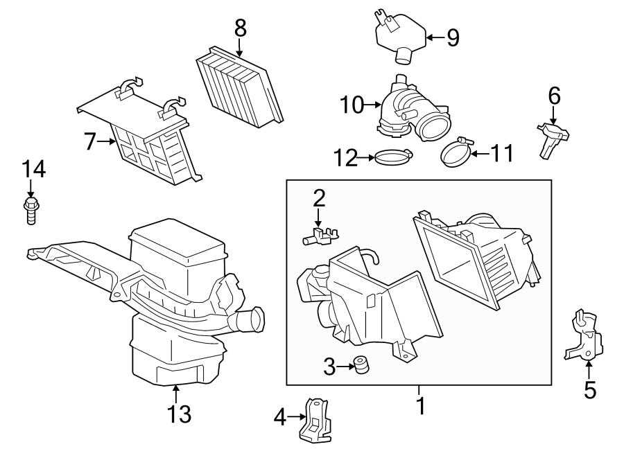 Toyota Sienna Engine Air Intake Resonator  Upper   2 7