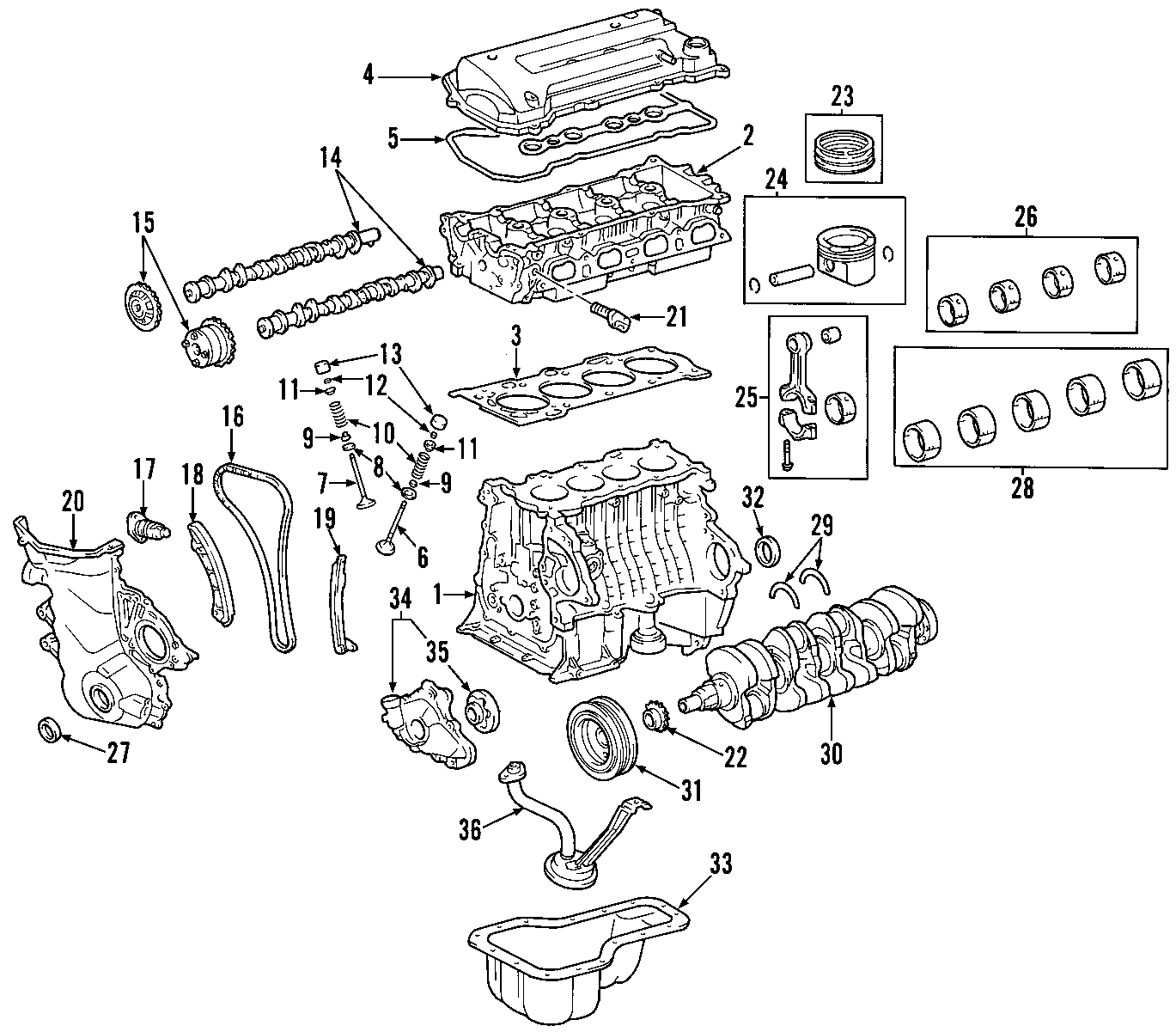 Toyota Mr2 Spyder Engine Valve Spring Retainer  Hybrid