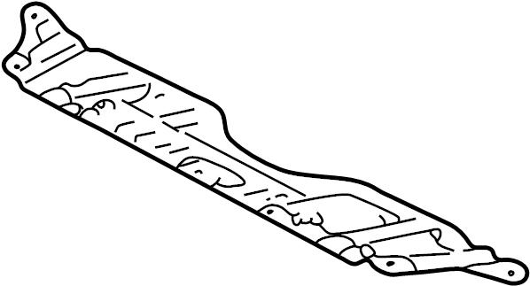 Toyota Camry Radiator Support Splash Shield  Front  Rear