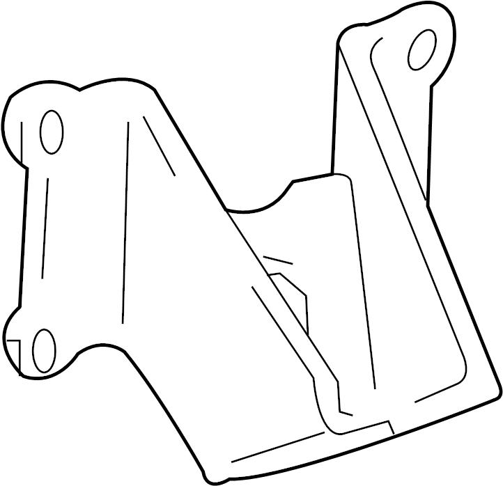 Toyota Tacoma Engine Mount Bracket  Front  Rear   2 7