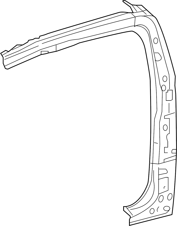 Toyota Tacoma Body B-pillar Reinforcement  Access Cab  Right