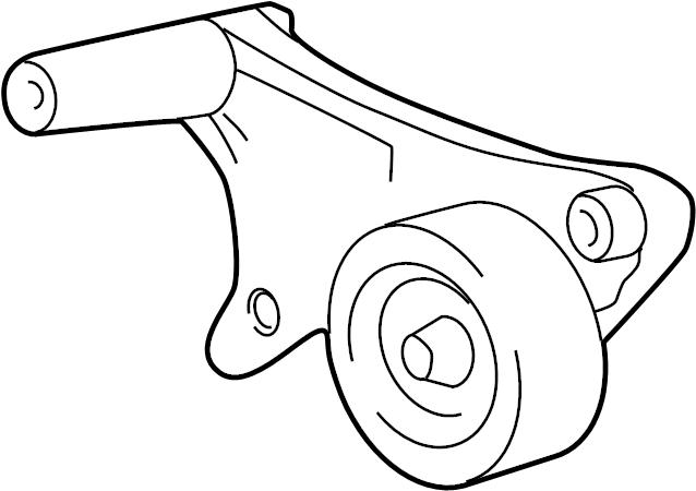 Toyota Highlander Accessory Drive Belt Tensioner Assembly